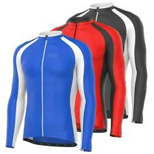 FDX Mens Metrix Cycling Jersey Breathable Long Sleeve Outdoor Cycling Top