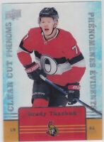 19/20 TIM HORTONS...BRADY TKACHUK...CLEAR CUT PHENOMS...CARD # CC-12...SENATORS