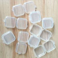 10Pcs Clear Plastic Transparent With Lid Small Storage Box Collection Container