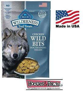Natural Healthy Blue Buffalo Wilderness BITS Dog Treats GRAIN FREE Chicken