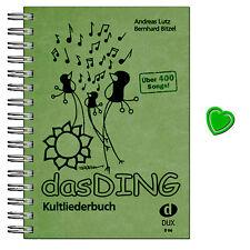 Das Ding - Kultliederbuch mit bunter herzförmiger Notenklammer