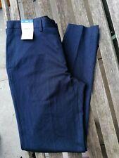 New BNWT Burton Mens blue tapered leg smart casual stretch trousers sz 34 LONG