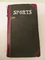 Antique Vtg Sports Scrapbook Ledger Early 1900s Football Boxing Baseball News