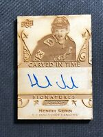 2019-20 UPPER DECK ENGRAINED HENRIK SEDIN CARVED IN TIME SIGNATURES AUTO #CTS-3
