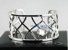 MONTBLANC 106421 JEWELRY STERLING SILVER BANGLE CABOCHON STAR QUARTZ BRACELET
