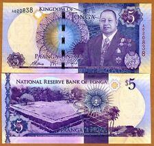 Tonga, Kingdom, 5 Pa'anga, ND (2015), P-45, UNC > Redesigned, New King