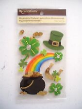 RECOLLECTIONS ST PATRICKS DAY POT OF GOLD SCRAP BOOK STICKERS