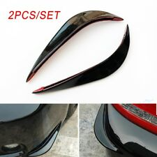 Pair Car Front Rear Body Bumper Guard Edge Protect Trim Crash Bar Anti-rub Strip