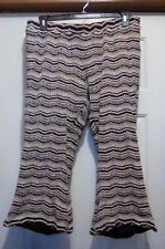 CATO WOMAN - Fully Lined Crochet-Look Pull-On Cropped Flared PANTS - Size 18/20W
