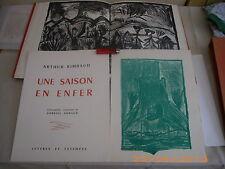 Rimbaud Une Saison en Enfer Lithographies de Gabriel Arnaud  1/23 ex. + suite