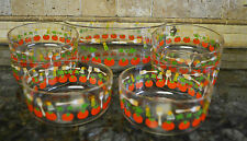 Red Tomato Glass Salad Bowl Set 9 Pc.
