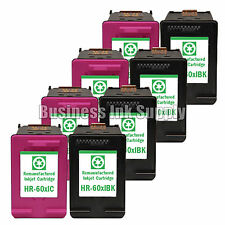 8 PACK HP 60XL ink cartridge for PhotoSmart C4600 C4635 C4685 C4780 C4700 C4740