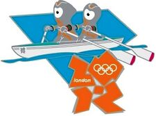 2012 LONDON  OLYMPIC MASCOT ROWING GAMES MARK SPORTS PIN NEW