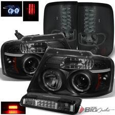 For 04-08 F150/Lobo Black Smoke Pro Headlights + LED Tail Lights + LED 3rd Brake