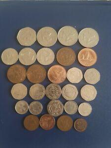 The Isle Of Man 20p 50p 2p 5p 1p Coins Nice Little Joblot IOM