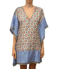 Tory Burch Silk Caftan Tunic Size XS / S Silk Cover Up Cruise Beach Eden Poncho