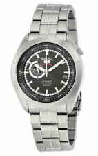 Seiko 5 Sports 100M 24 Hour Sub-Dial Black Men's Stainless Steel Strap Watch