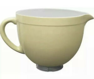 Kitchen Aid Mixer Ceramic Batter Bowl, Butter Yellow, Attachment Accessory