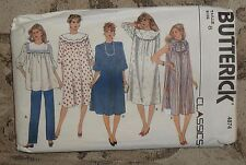 VINTAGE BUTTERICK PATTERN #4874 - MATERNITY DRESS, TUNIC & PANTS - MISSES 8