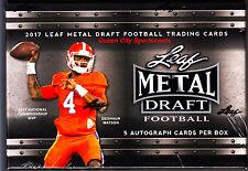 2017 Leaf Metal Draft Football Factory Sealed Hobby Box