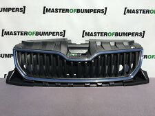 SKODA FABIA MK4 2015-2018 FRONT BUMPER MAIN GRILL CHROME SURROUND GENUINE