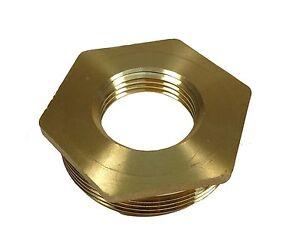 "2"" x 1"" BSP Brass Reducing Hexagon Bush | Male to Female"