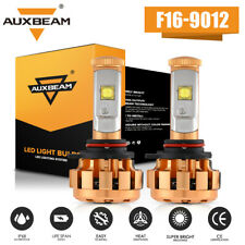 AUXBEAM 9012 LED Headlight Bulbs kit Hi/Low Beam 6000K White Super Bright power