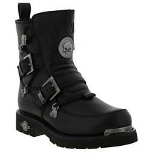 Harley Davidson Distortion Mens Black Motorcycle Biker Ankle Boots Size 7-11