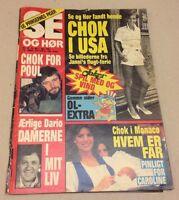 "Princess Caroline Monaco Royals Newborn Son Danish Magazine 1984 ""Se og Hoer"""