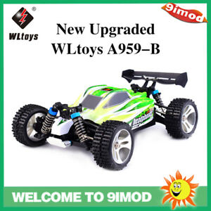 New Upgraded Wltoys A959-B 2.4G 1/18 4WD 70km/h Racing High Speed Off-Road Car