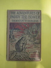 "1923 Bedtime story book ""The Adventures of Paddy the Beaver"" by Thornton Burgess"
