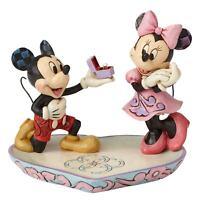 Enesco Mickey & Minnie Mouse Figurine - Disney Marriage Proposal Sculpture