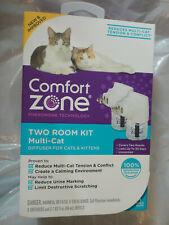 COMFORT ZONE CATS & KITTEN DIFFUSER MULTI CAT CALMING TWO ROOM KIT BRAND NEW