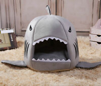 Pet Shark Mouth Nest Dog Cat Sleeping Bed Soft Warm Doghouse Kennel with Cushion