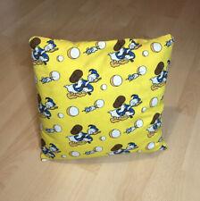 Disney Donald Duck Kissen - Vintage 70er / 80er 34x34cm Rarität Gelb Pillow