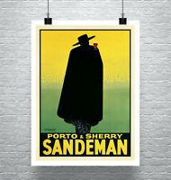 Sandeman Vintage Liquor Advertising Poster Giclee Print on Canvas or Paper