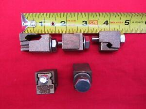 LOT OF 5 BRASS/BRONZE SPLIT BOLT GROUNDING CONNECTORS CLAMPS WIRE ROD EMC EM2374