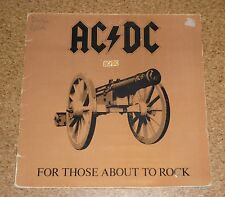LP Vinyl AC DC for those about  rock  AC/DC ACDC Made in Spain Spanien Spanish