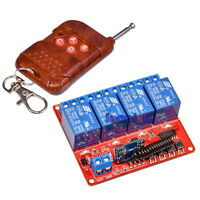 4-Channel Relay Module 5V DC + 433Mhz Remote Control RF  Transmitter + Receiver