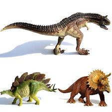 Carnotaurus + Triceratops + Stegosaurus Dinosaurs Toys Model Kids Christmas Gift