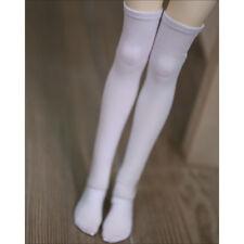 """BJD White Knee-High Socks Stockings for 1/4 17"""" 44cm BJD MSD DODAS DD doll"""