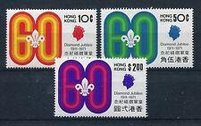 Hongkong 255/57 postfrisch / Pfadfinder ..................................1/2839