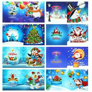 8pcs DIY 5D Special Diamond Painting Gifts Xmas Greeting Card Party Art Kit