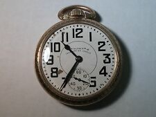 American Waltham pocket watch open face, Vanguard, 23 jewels, 10K rolled gold pl