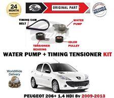 Per PEUGEOT 206+ 1.4 HDI 68bhp 2009-2013 POMPA ACQUA + KIT TIMING CAM Tensionatore