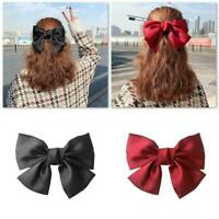 Big Bow Hair Clip Satin Hairpin Hair Accessories For Women Hairpins Bowknot E7I5