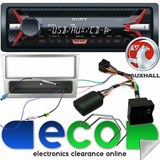 Vauxhall Astra H SONY CD MP3 USB Car Stereo Steering Wheel Kit & Silver Fascia