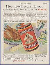 Vintage 1929 DIAMOND CRYSTAL Shaker Salt Kitchen Ephemera Décor 20's Print Ad