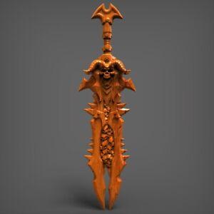 (1817) STL Model Sword for CNC Router 3D Printer Artcam Aspire Cut3d