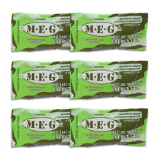 MEG - Military Energy Gum | 100mg caffeine pc | Spearmint 6 Pack (30 Count)